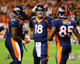 Knighton and Green congratulate Peyton Manning on record pass Photo