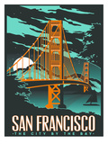 San Francisco Night Affiche par Matthew Schnepf