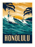 Honolulu Prints by Matthew Schnepf