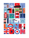 Londres Affiches par  Visual Philosophy