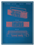 Vintage Boombox Blueprint Prints