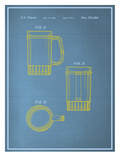 Beer Stein Blueprint Prints