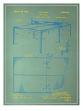 Table Tennis Blueprint Prints