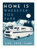 Camp Print by Matthew Schnepf