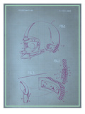 Helmet Blueprint Posters