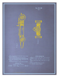 Model Racing Car Blueprint Posters
