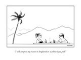"""""""I still compose my tweets in longhand on a yellow legal pad."""" - New Yorker Cartoon Premium Giclee Print by Alex Gregory"""