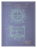 Magnetic Compass Blueprint Prints