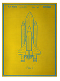Space Shuttle Blueprint Posters