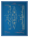 Toy Warship Blueprint Posters