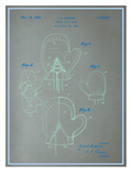Boxing Gloves Blueprint Prints