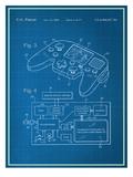 Video Game Controller Blueprint Plakater