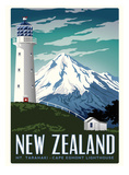 New Zealand Poster af Matthew Schnepf