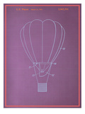 Hot Air Baloon Blueprint Posters