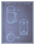 Beer Stein Blueprint Print