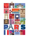 Paris Affiches par  Visual Philosophy
