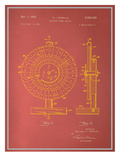 Roulette Wheel Blueprint Prints