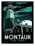 Montauk Lighthouse at Night Poster par Matthew Schnepf