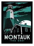 Montauk Lighthouse at Night Poster by Matthew Schnepf
