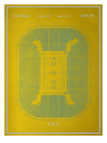 Basketball Court Blueprint Print