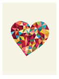 Heart Polygon Posters