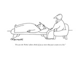 """I'm sure the 'Forbes' editors think of you as more than just a name on a …"" - New Yorker Cartoon Premium Giclee Print by Charles Barsotti"
