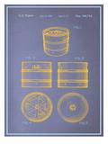 Keg Blueprint Affischer