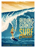Riding Giants Poster by Matthew Schnepf