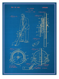 Adjustable Golf Club Blueprint Kunstdrucke