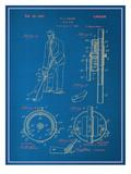 Adjustable Golf Club Blueprint Láminas