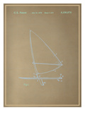 Wind Surfboard Blueprint Prints