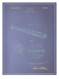 Baseball Bat Blueprint Prints