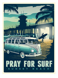 Pray for Surf Art by Matthew Schnepf