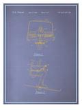 Ski Lift Blueprint Posters