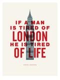 London (Samuel Johnson) Affiche