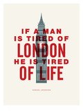 London (Samuel Johnson) Plakat