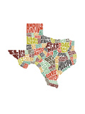 Texas (color) Posters