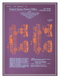 Batmobile Design Blueprint Posters