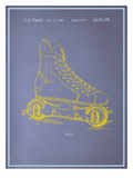 Rollerskates Blueprint Art