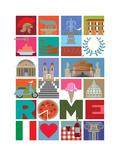 Rome Poster par  Visual Philosophy