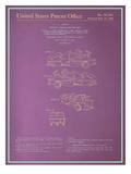 Golf Vehicle Blueprint Poster