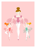 Ballerina Twins Arte por  The Paper Nut