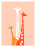 Giraffes Trio Posters by  The Paper Nut