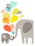 Elephants Prints by  The Paper Nut