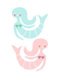 Mermaid Duo II Prints by  The Paper Nut