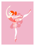 Ballerina Arabesque Lámina por  The Paper Nut