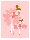 Ballerina Mother Daughter Póster por  The Paper Nut