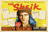 The Sheik Movie Rudolph Valentino Agnes Ayres Adolphe Menjou Poster Print Prints