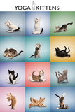 Yoga Kittens Grid Poster