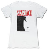 Juniors: Scarface - Black And Red T-shirts